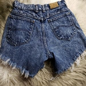 Vintage Lee High Rise Distressed Shorts Sz 0
